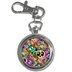 Crazy Illustrations & Funky Monster Pattern Key Chain Watches