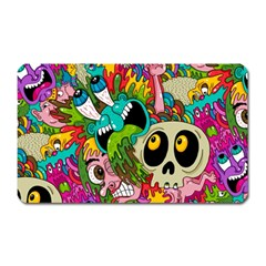 Crazy Illustrations & Funky Monster Pattern Magnet (rectangular)