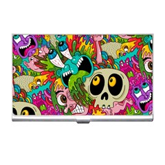 Crazy Illustrations & Funky Monster Pattern Business Card Holders