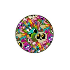 Crazy Illustrations & Funky Monster Pattern Hat Clip Ball Marker (10 Pack)
