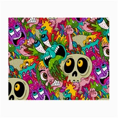 Crazy Illustrations & Funky Monster Pattern Small Glasses Cloth