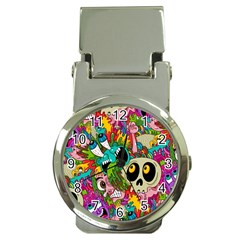 Crazy Illustrations & Funky Monster Pattern Money Clip Watches
