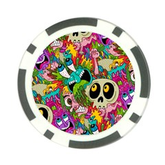 Crazy Illustrations & Funky Monster Pattern Poker Chip Card Guard (10 Pack)