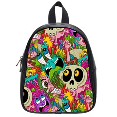 Crazy Illustrations & Funky Monster Pattern School Bags (Small)