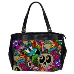 Crazy Illustrations & Funky Monster Pattern Office Handbags