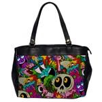 Crazy Illustrations & Funky Monster Pattern Office Handbags Front