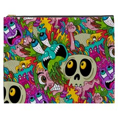 Crazy Illustrations & Funky Monster Pattern Cosmetic Bag (XXXL)