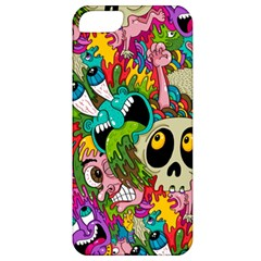 Crazy Illustrations & Funky Monster Pattern Apple Iphone 5 Classic Hardshell Case