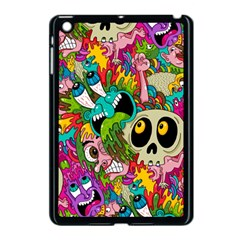 Crazy Illustrations & Funky Monster Pattern Apple Ipad Mini Case (black)