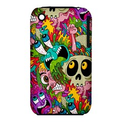 Crazy Illustrations & Funky Monster Pattern iPhone 3S/3GS