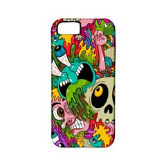 Crazy Illustrations & Funky Monster Pattern Apple Iphone 5 Classic Hardshell Case (pc+silicone)