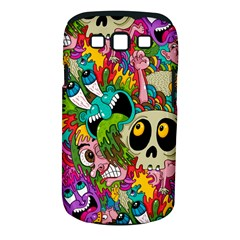 Crazy Illustrations & Funky Monster Pattern Samsung Galaxy S III Classic Hardshell Case (PC+Silicone)