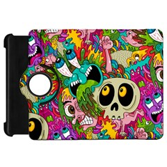 Crazy Illustrations & Funky Monster Pattern Kindle Fire Hd 7