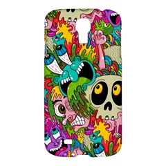 Crazy Illustrations & Funky Monster Pattern Samsung Galaxy S4 I9500/I9505 Hardshell Case