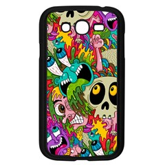 Crazy Illustrations & Funky Monster Pattern Samsung Galaxy Grand DUOS I9082 Case (Black)
