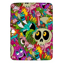 Crazy Illustrations & Funky Monster Pattern Samsung Galaxy Tab 3 (10 1 ) P5200 Hardshell Case