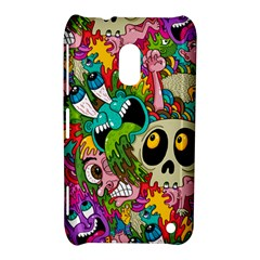 Crazy Illustrations & Funky Monster Pattern Nokia Lumia 620