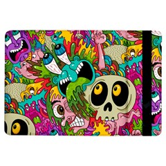 Crazy Illustrations & Funky Monster Pattern iPad Air Flip