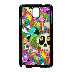 Crazy Illustrations & Funky Monster Pattern Samsung Galaxy Note 3 Neo Hardshell Case (Black)