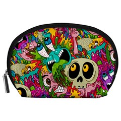 Crazy Illustrations & Funky Monster Pattern Accessory Pouches (Large)