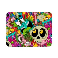 Crazy Illustrations & Funky Monster Pattern Double Sided Flano Blanket (Mini)