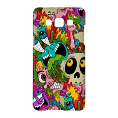 Crazy Illustrations & Funky Monster Pattern Samsung Galaxy A5 Hardshell Case