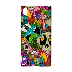 Crazy Illustrations & Funky Monster Pattern Sony Xperia Z3+