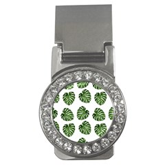 Leaf Pattern Seamless Background Money Clips (CZ)