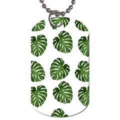 Leaf Pattern Seamless Background Dog Tag (two Sides)