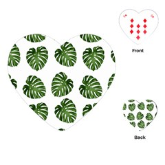 Leaf Pattern Seamless Background Playing Cards (Heart)
