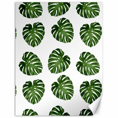 Leaf Pattern Seamless Background Canvas 18  x 24