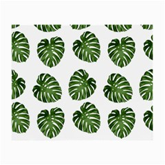 Leaf Pattern Seamless Background Small Glasses Cloth (2 Side)