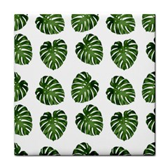 Leaf Pattern Seamless Background Face Towel