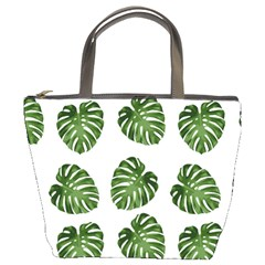 Leaf Pattern Seamless Background Bucket Bags