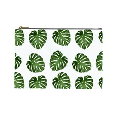 Leaf Pattern Seamless Background Cosmetic Bag (Large)