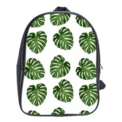 Leaf Pattern Seamless Background School Bags(large)