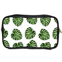 Leaf Pattern Seamless Background Toiletries Bags 2 Side