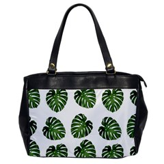 Leaf Pattern Seamless Background Office Handbags