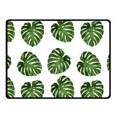 Leaf Pattern Seamless Background Fleece Blanket (small)