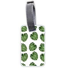 Leaf Pattern Seamless Background Luggage Tags (One Side)