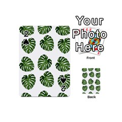 Leaf Pattern Seamless Background Playing Cards 54 (Mini)