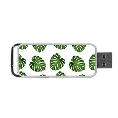Leaf Pattern Seamless Background Portable USB Flash (One Side)