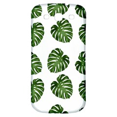 Leaf Pattern Seamless Background Samsung Galaxy S3 S III Classic Hardshell Back Case