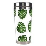 Leaf Pattern Seamless Background Stainless Steel Travel Tumblers Left