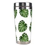 Leaf Pattern Seamless Background Stainless Steel Travel Tumblers Center