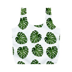Leaf Pattern Seamless Background Full Print Recycle Bags (m)