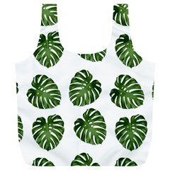 Leaf Pattern Seamless Background Full Print Recycle Bags (L)