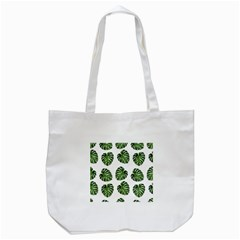 Leaf Pattern Seamless Background Tote Bag (White)