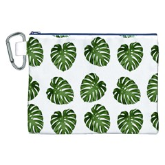 Leaf Pattern Seamless Background Canvas Cosmetic Bag (xxl)