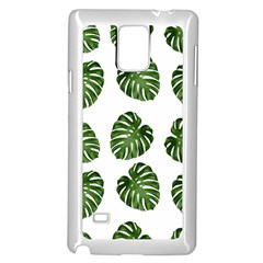 Leaf Pattern Seamless Background Samsung Galaxy Note 4 Case (white)